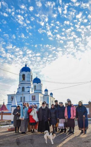9-10 ноября монастырь посетила группа паломников, прихожан Свято-Андреевского мужского монастыря (с.Андреевка Оренбургская область).