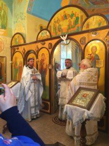 Освящение храма в честь равноапостольной княгини Ольги