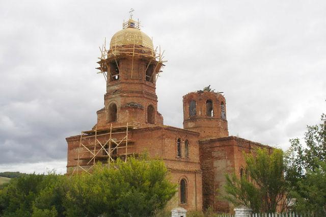 Восстановление купола звонницы. Лето 2005 года.